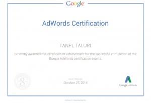 google reklaam sertifikaat